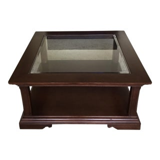Thomasville Wood & Glass Square Coffee Table