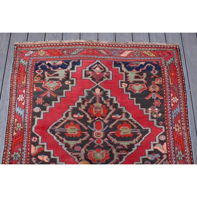 "Semi-Antique Caucasian Kazak Runner - 4'4"" x 10'1"" - Image 6 of 9"
