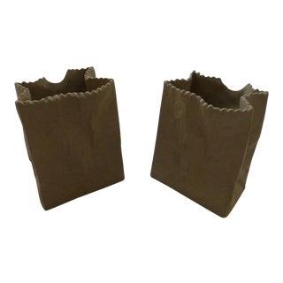 Tapio Wirkkala Rosenthal Paper Bag Vases- A Pair