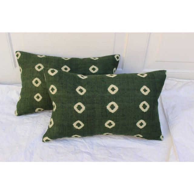 Tie-Dye Woven Linen Pillows - Pair - Image 3 of 7