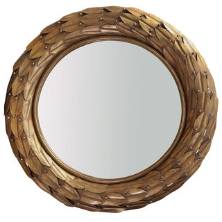 Metal Gold Leaf Mirror