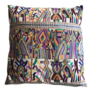 African Hand Embroidered Pillow