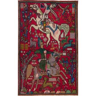 """Apadana - Persian Tabriz Rug, 3' x 4'10"""""""