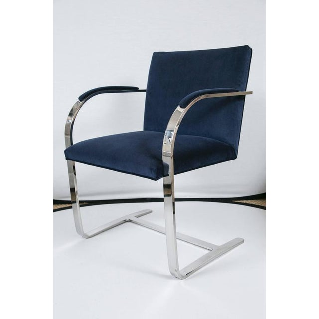 Brno Flat Bar Chairs in Navy Velvet, Set of Six - Image 5 of 9