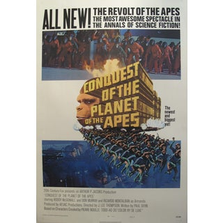 Vintage Movie Poster Conquest of the Planet of the Apes 1972