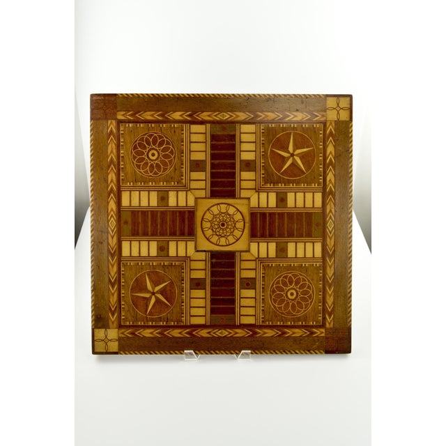 Image of Antique 19th C. Inlaid Wooden Game Board