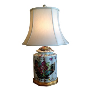 Tobacco Leaf Motif Lamp