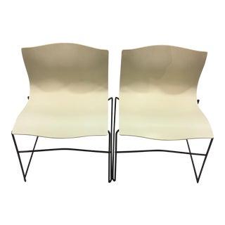 Knoll White Handkerchief Chairs - A Pair
