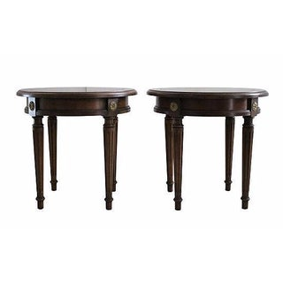Louis XVI Taboret Tables - A Pair