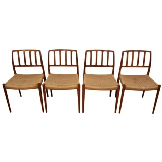 Niels Otto Møller Dining Chairs - Set of 4