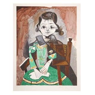 Pablo Picasso - Petite Fille a La Robe Verte Litho