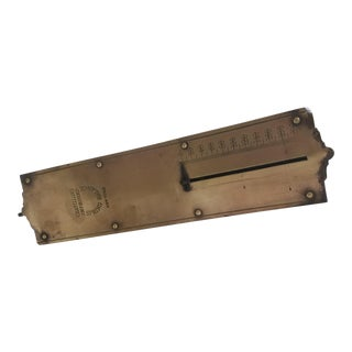 Antique Brass Scale by Chatillons of New York