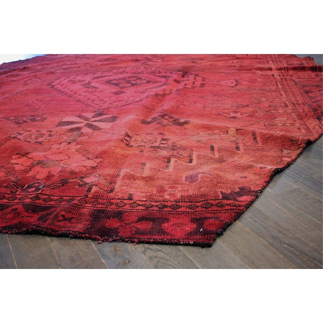 Apadana - Overdyed Red Persian Rug - 7′ × 9′7″ - Image 2 of 2