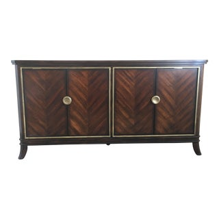 Sleek Funky Herringbone Wooden Sideboard