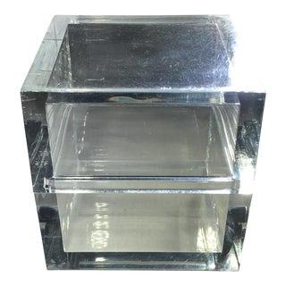 Vintage Lucite Cube Trinket Box