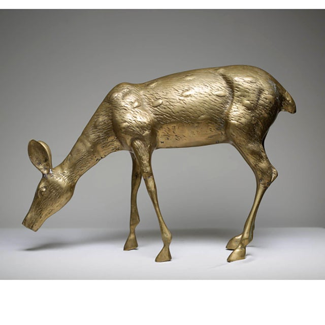 Mid-Century Modern Brass Deer - Image 2 of 6