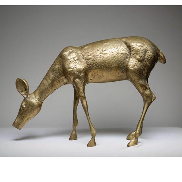 Image of Mid-Century Modern Brass Deer