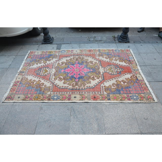 Oushak Anatolian Carpet - 4′5″ × 6′10″ - Image 4 of 6