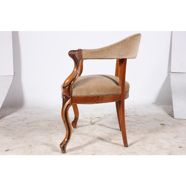 Danish Walnut Library Chair - Image 3 of 4