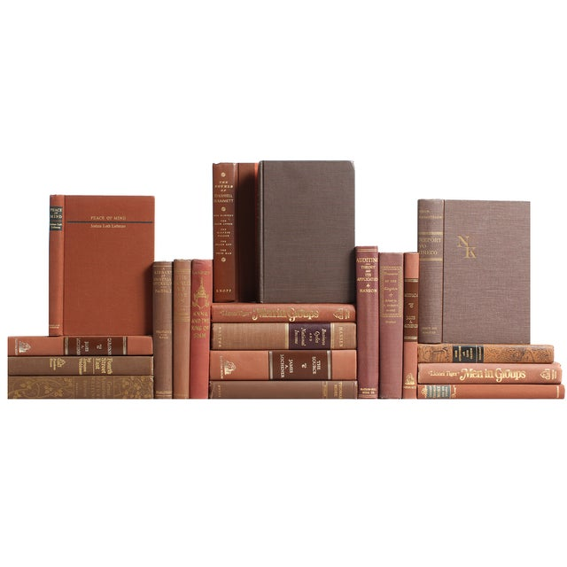 Brown Mid-Century Books - S/20 - Image 1 of 2