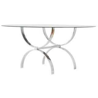 Pace Style Glass and Chrome Coffee Table