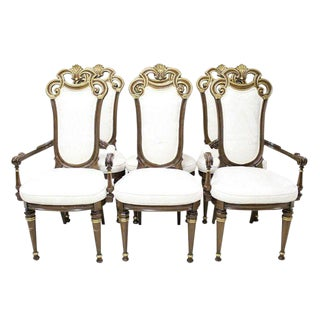 French Style Carved & Gilded Chairs - Set of 6
