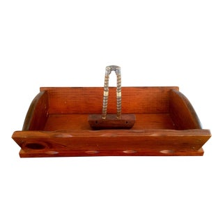 Wooden Tray With Nut Cracker