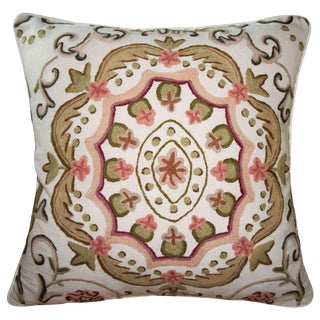 Embroidered Suzani Accent Pillow