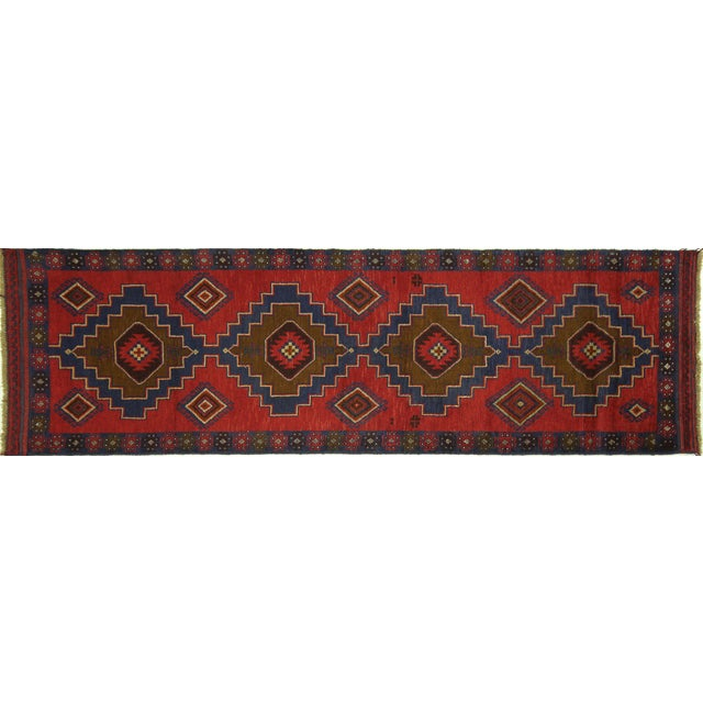 "Persian Tribal Baluch Runner Rug - 2'6"" x 9' - Image 1 of 7"