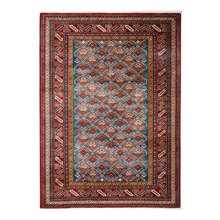 """New Traditional Hand Knotted Area Rug - 4'4"""" x 5'10"""""""