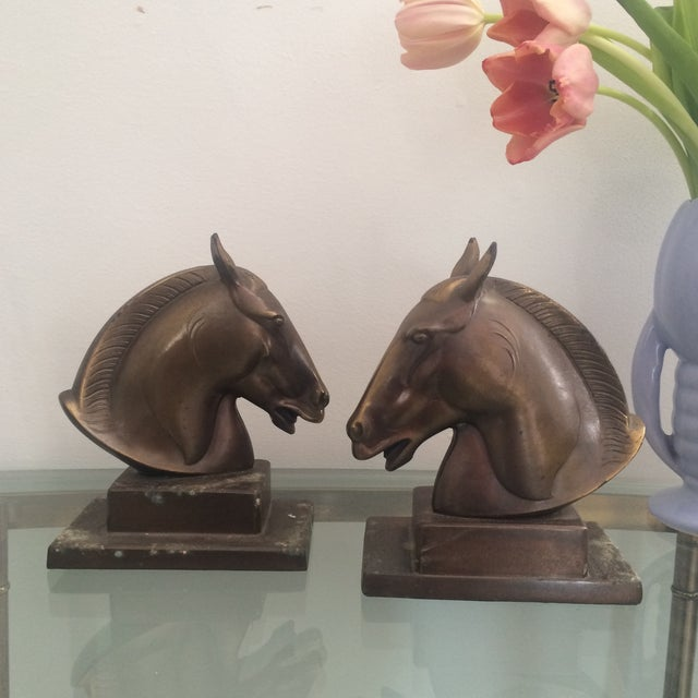 Brazen Horse Bookends - A Pair - Image 7 of 11