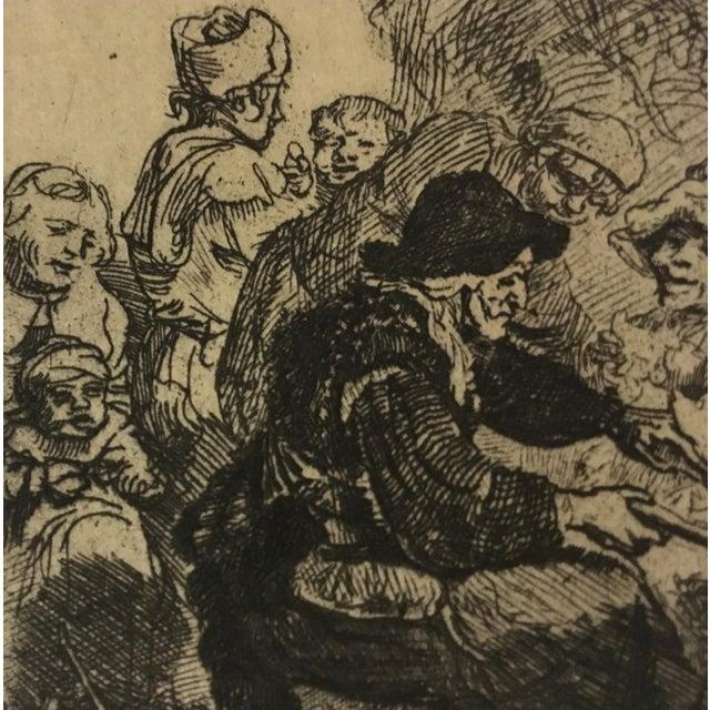 "Rembrandt ""The Pancake Woman"" Original Etching - Image 8 of 9"