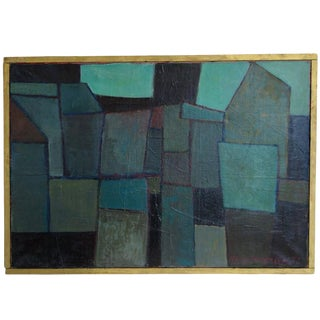 Modern Abstract Cubist Oil Painting on Canvas