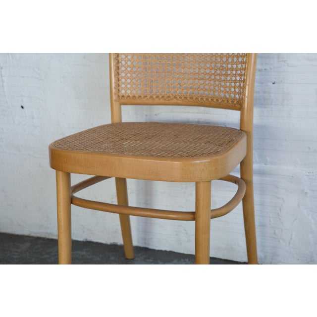 Prauge Cane Bentwood Woven Side Chairs - Set of 4 - Image 9 of 11