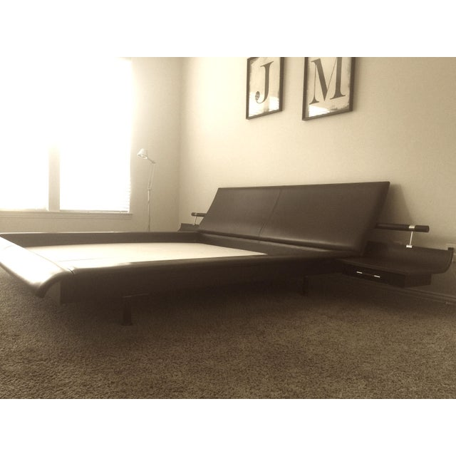 Roche Bobois Vanity King Size Leather Bed | Chairish