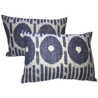 Kravet Denim Ikat Pillows - Pair