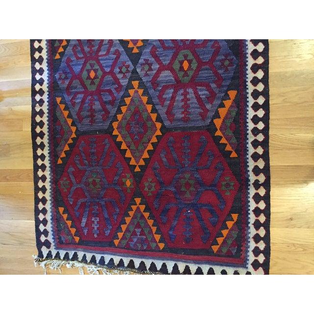 "Image of Ornate Bohemia Turkish Kilim Rug , 3'3"" x 9'8"""