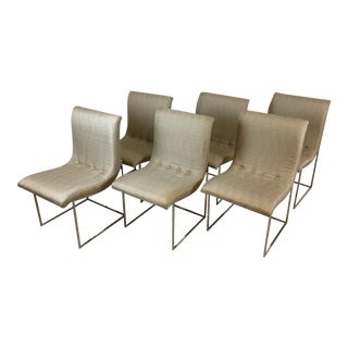 Milo Baughman for Thayer Coggin Scoop Dining Chairs - Set of 6