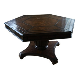 Leather Stitched Top Game Table