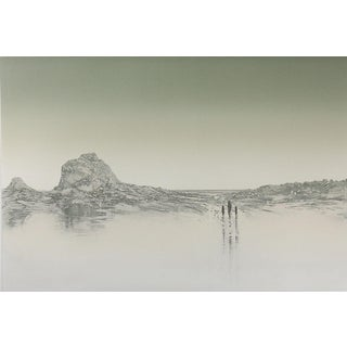 """""""Le Hocq II"""" Channel Islands Etching"""