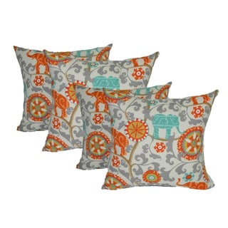 Bohemian Outdoor Elephant Pillows - Set of 4