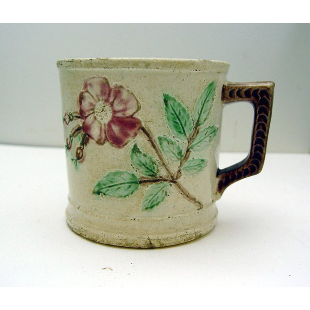 Antique Majolica Mug With Roses - Image 3 of 5