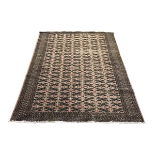 Vintage Persian Turkmen Distressed Rug - 4'1 X 6'4
