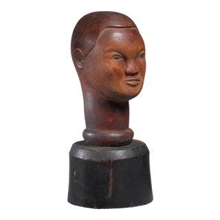 Wood bust sculpture, USA, 1946