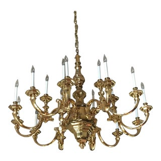 Solid Brass 19 Light Chandelier