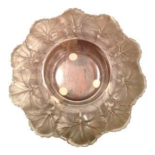 Vintage Lalique Crystal Saucer