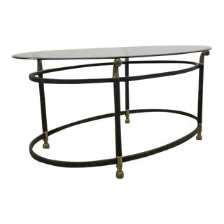 Charlotte Oval Glass Coffee Table