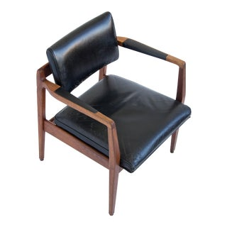Jens Risom Leather Armchair