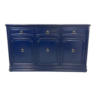 Henredon Navy Lacquered Server
