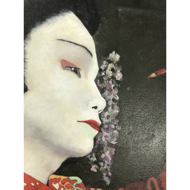 Geisha Applying Make-up Original Oil Painting - Image 5 of 8